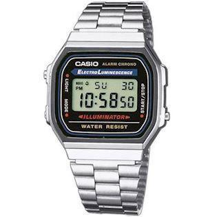 Casio Retro rustfri stål quartz multifunktion (1275) Herre / ungdom ur, model A168WA-1YES